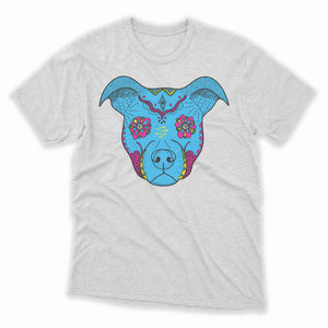 Sugar Skull Pitbull Mens Shirt
