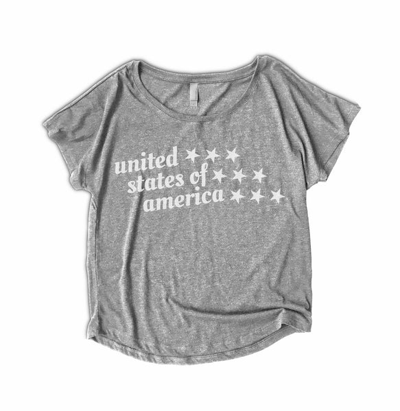 womens 4th of July tee