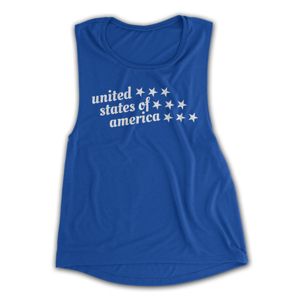 womens 4th of July tank top