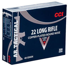 CCI 22 Long Rifle Copper-plated Round Nose 40 GR 3000 round case. $22.99 per 300 rounds