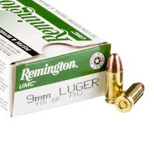REMINGTON UMC 9mm Luger 115 Grain FMJ  500 Round Case $10.65 per box of 50