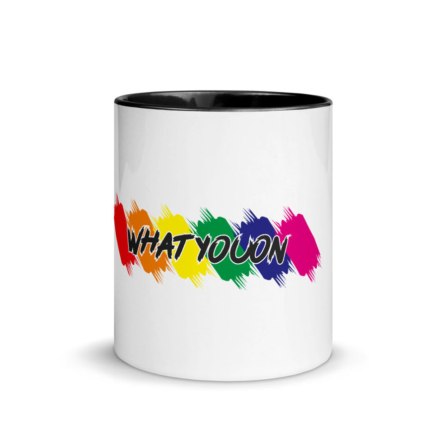 WhatYouOn Mug with Color Inside