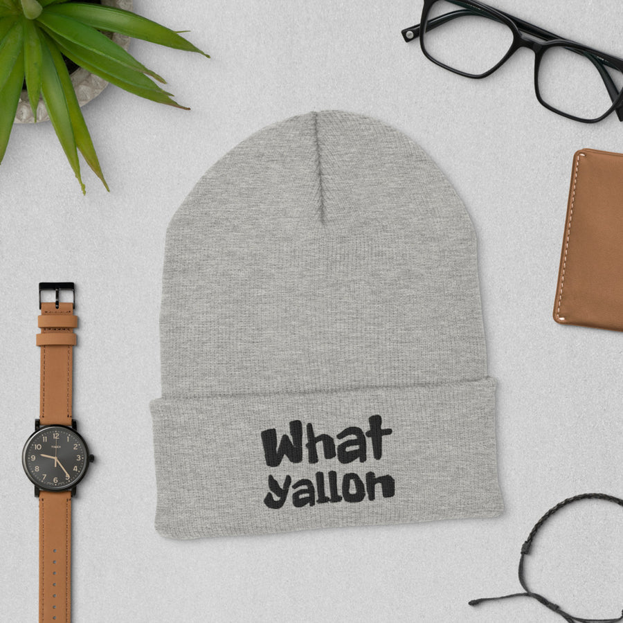 WhatYallOn Cuffed Beanie