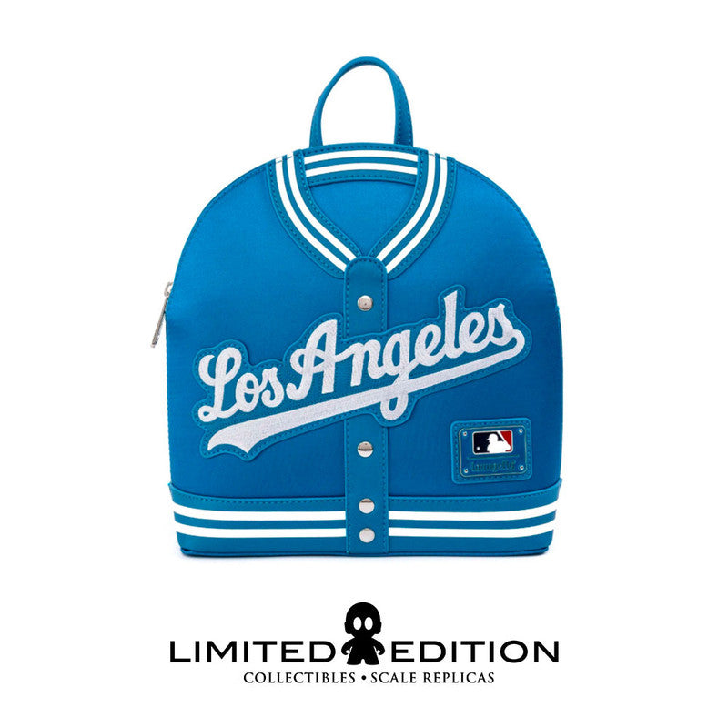 Loungefly Mlb Dodgers Satin Jacket Convertible Mini Backpack