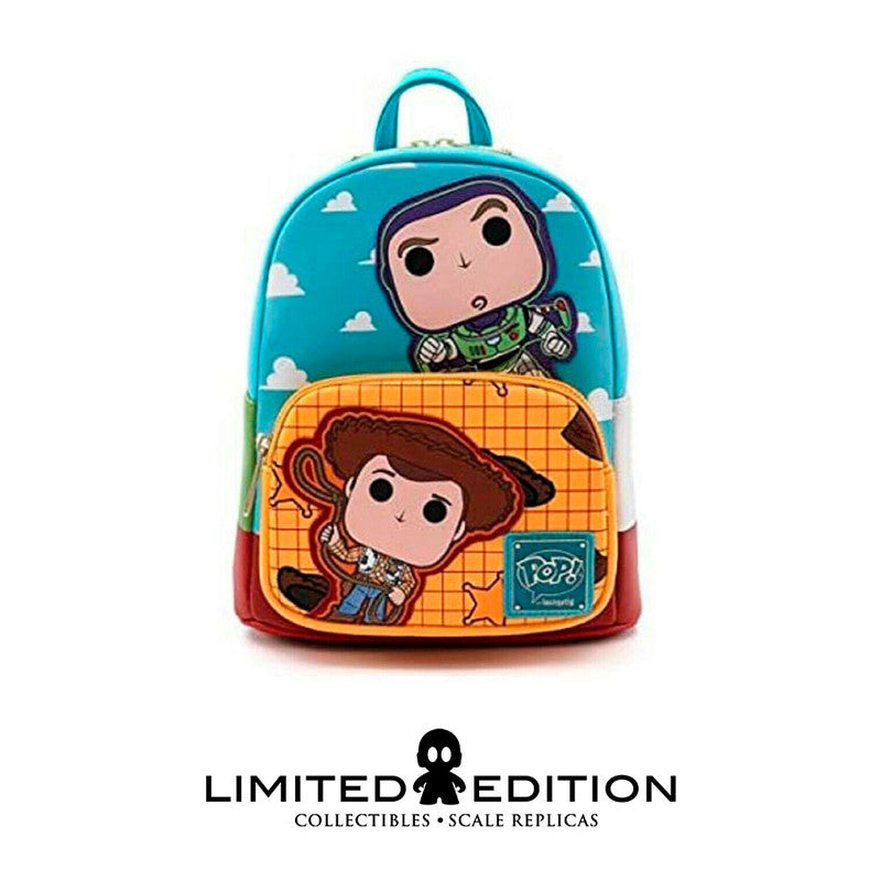 Loungefly Pop Pixar Toy Story Buzz And Woody Mini Backpack