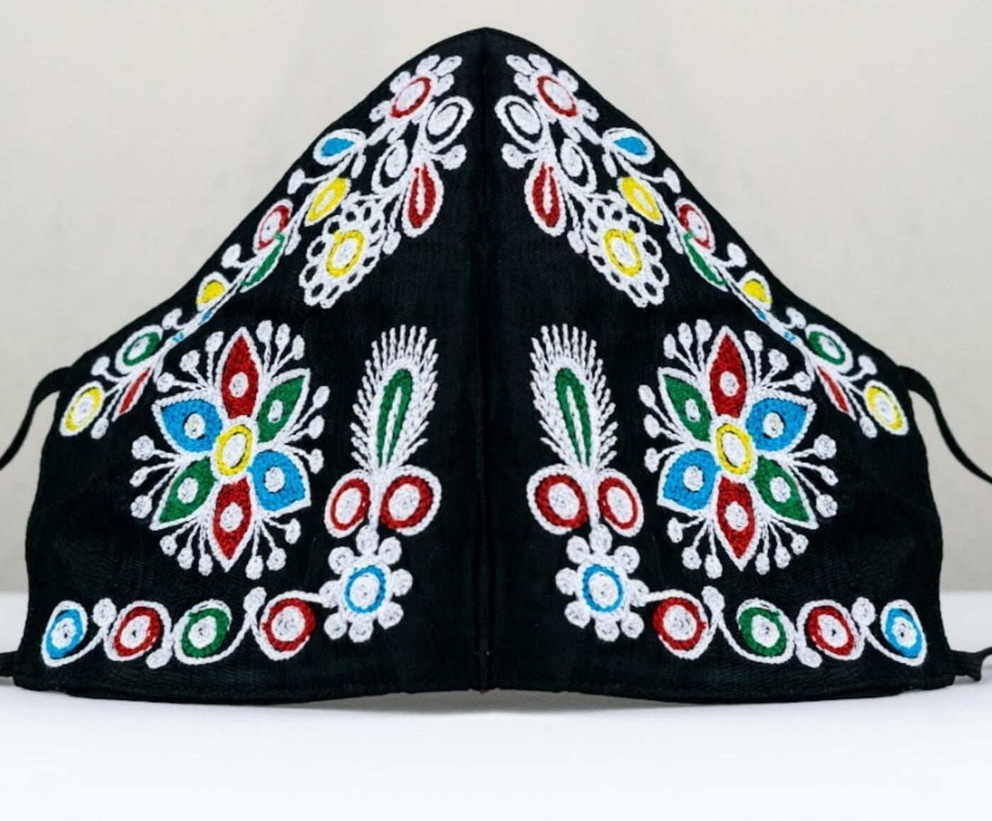 Fashionable Hand Embroidered Face Mask- Colorful Floral