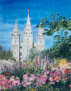 Salt Lake Temple in Summer