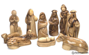 12 Pc Olive Wood Nativity