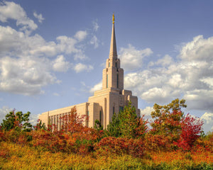Oquirrh Mtn. Utah Temple Fall Colors
