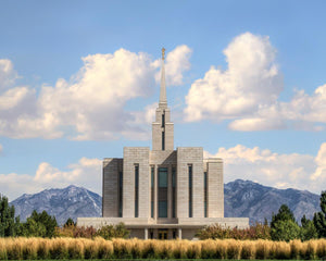 Oquirrh Mtn. Utah Temple Mountain of God