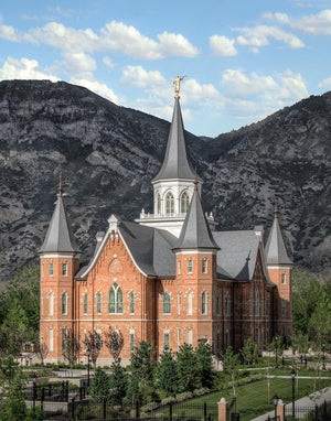 Provo City Center Utah Temple Y Mountain Portrait