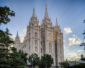 Salt Lake City Utah Temple Rays of Light