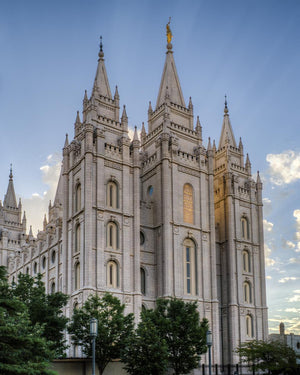 Salt Lake City Utah Temple Rays of Light Portrait