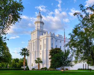 St. George Utah Temple House of Angels