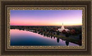 Idaho Falls - Snake River Reflection Aerial