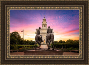 Nauvoo Joseph and Hyrum Sunrise
