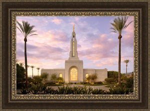 Redlands Temple Fountain Sunset