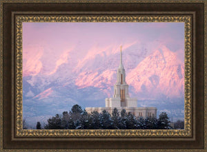 Payson Temple Winter Evening