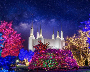 Washington DC Temple Christmas Lights