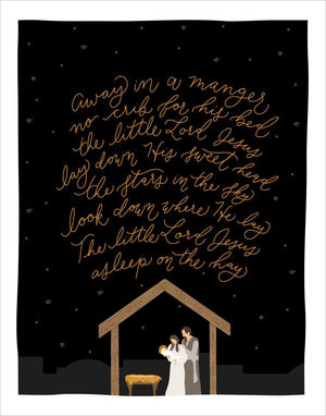 Away In A Manger Christmas Cards 18-Pack