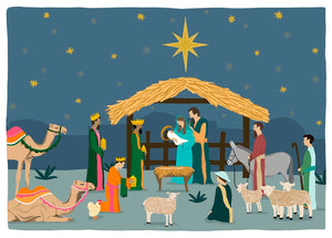Nativity Christmas Cards 18-Pack