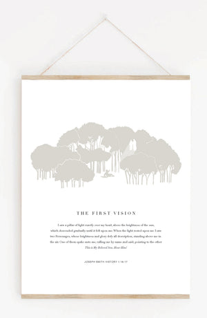The First Vision Hanging Print
