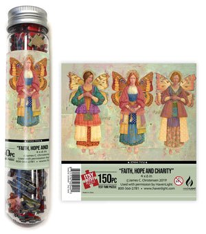 Faith, Hope & Charity Test Tube Itsy Bitsy Puzzle (150 pcs)
