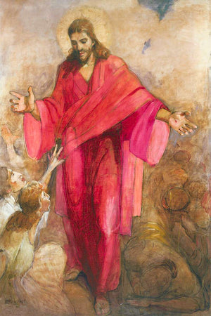 Christ in a Red Robe Large Art