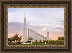 Boise Temple Sunset