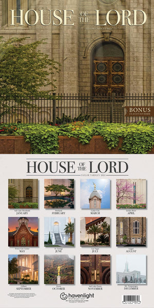 2021 House of the Lord Taylor Yardley Calendar