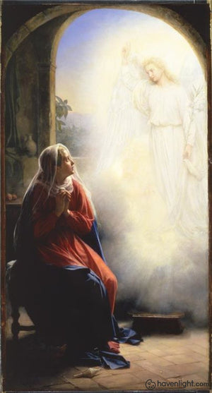 Annunciation Of Mary Open Edition Canvas / 11 X 21 Print Only Art