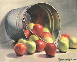 Apple Bucket 16 X 20 Original Painting