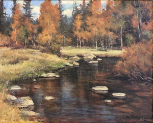 Autumnal Stream 16 X 20 Original Painting