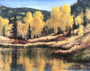 Cedar Mountain Pond 16 X 20 Original Painting