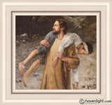 He Will Place You On His Shoulders And Carry Home Open Edition Print / 12 X 11 Frame R 15 1/4 16 Art