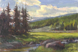 Mammoth Creek 12 X 16 Original Painting