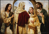 Marthas Witness Of Christ Open Edition Canvas / 24 1/2 X 17 Print Only Art