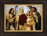 Marthas Witness Of Christ Open Edition Canvas / 24 1/4 X 17 Frame A 1/2 32 Art