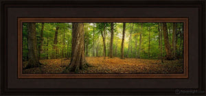 Oh How Lovely Was The Morning Open Edition Print / 18 X 6 Frame K 22.5 10.5 Oep