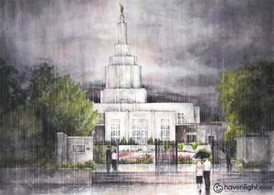 Refuge From The Storm - Idaho Falls Temple Art