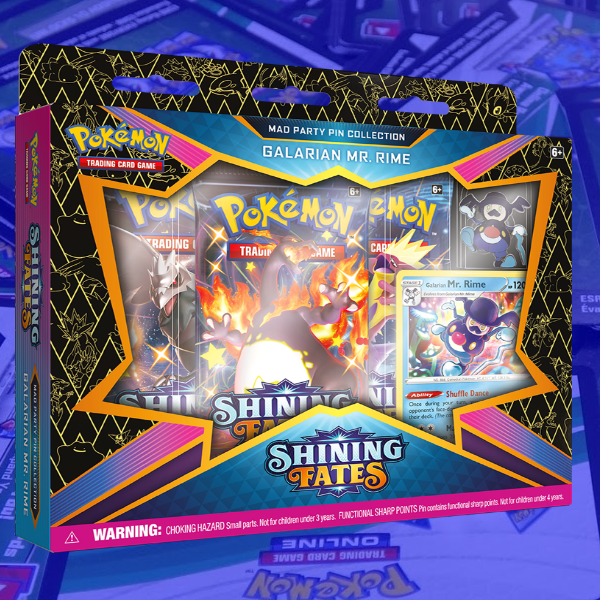 Shining Fates Mr Rime Pin Collection - PTCGO Code