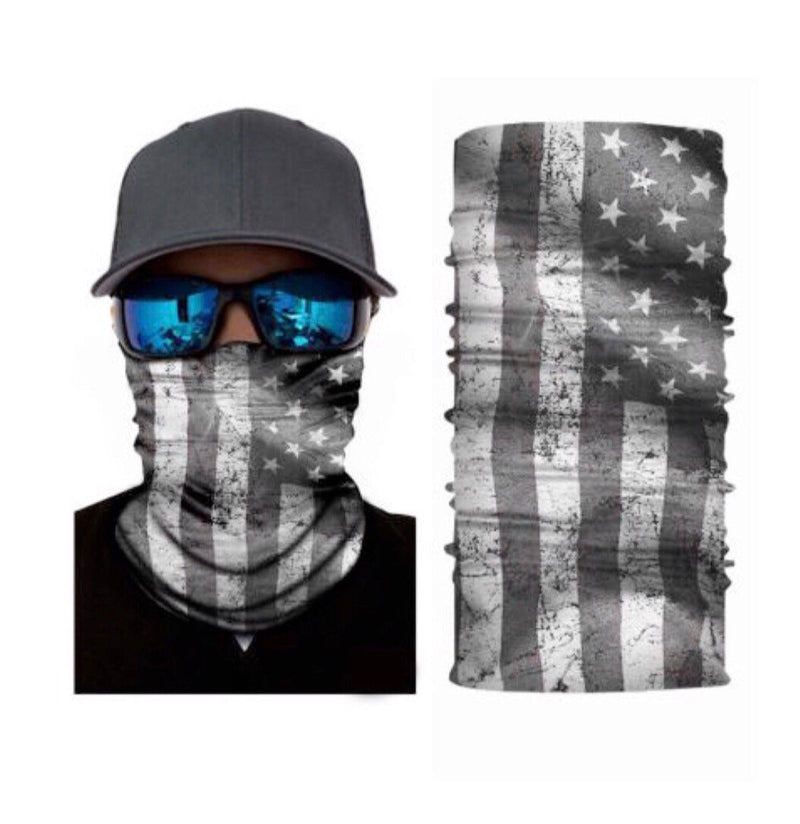 American Flag 3 Pack bundle USA Distressed Flag Face Mask Gaiter Bandana - Ships Next Day USPS First Class - Free Shipping!