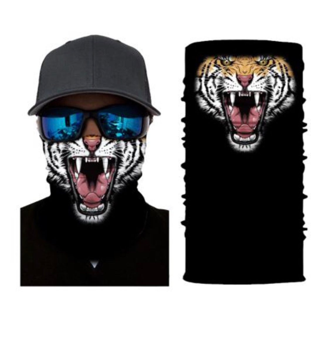 Tiger Face Mask Covering Bandana Gaiter  - Ships Next Day USPS First Class