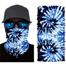 Load image into Gallery viewer, Blue Tie Dye Neck Gaiter Face Mask Bandana
