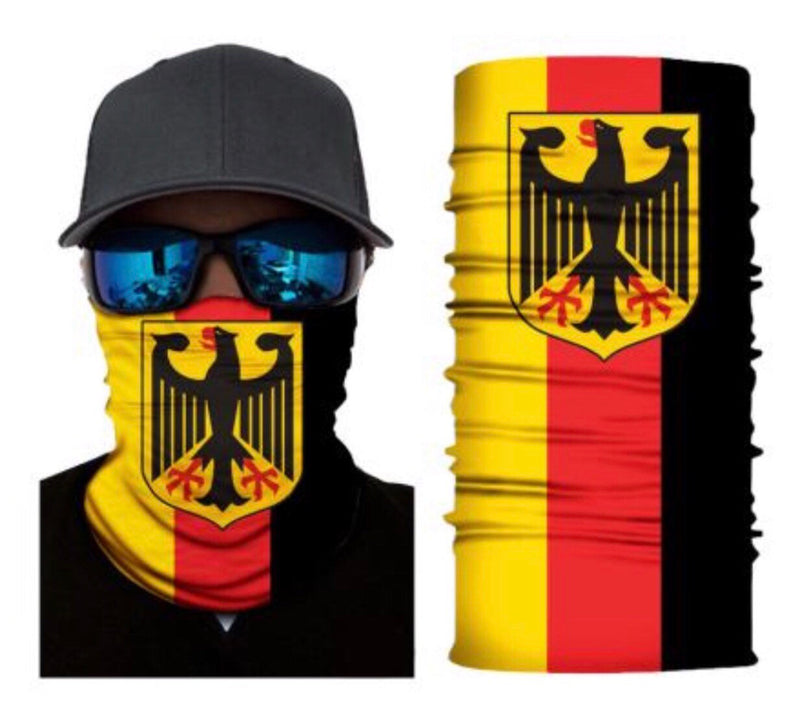 German Flag Neck Gaiter Face Mask Bandana
