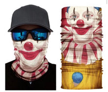 Load image into Gallery viewer, Halloween Clown Neck Gaiter Tube Bandana