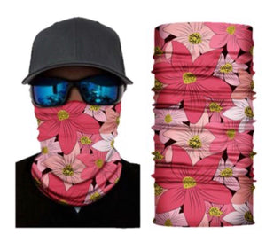Flower Neck Gaiter Tube Bandana