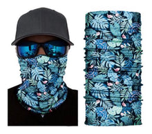 Load image into Gallery viewer, Tropical Flower Neck Gaiter Tube Bandana