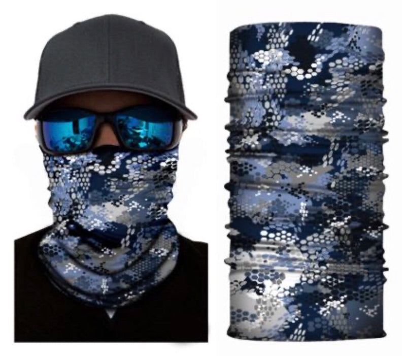 Blue Scale Neck Gaiter Face Mask Bandana