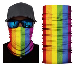 LGBT Neck Gaiter Face Mask Bandana - Ships Next Day USPS First Class - Free Shipping!